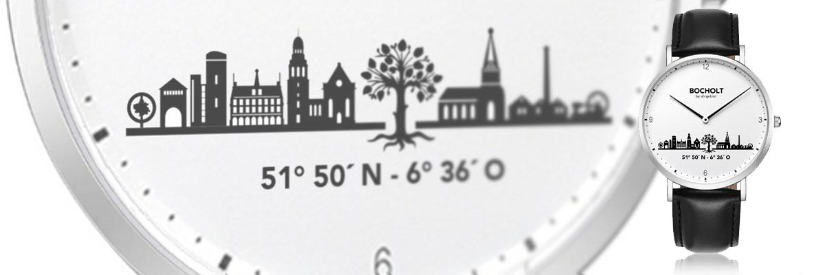 Die erste Bocholter Skyline Uhr